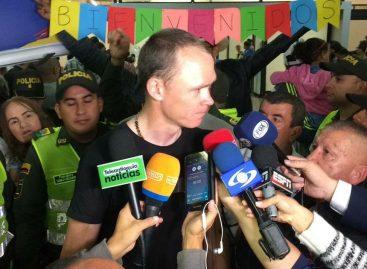 Chris Froome llegó a Rionegro y se alista para el Tour Colombia 2.1