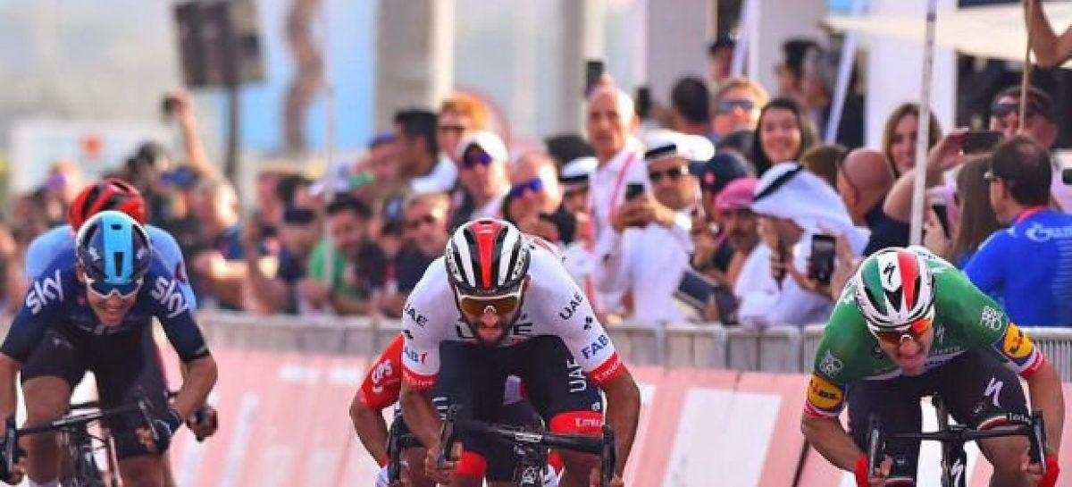 Fernando Gaviria fue segundo en la quinta etapa del Tour de los Emiratos Árabes