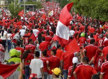 Prohíben a los hinchas de América realizar un banderazo en Rionegro