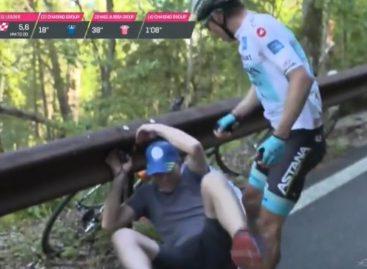 Un espectador le arruinó la etapa 20 del Giro a Miguel Ángel López