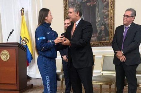 Laura Gómez fue recibida por el Presidente en la Casa de Nariño