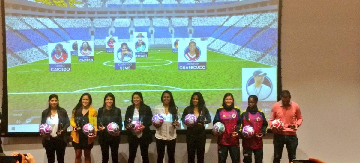 Catalina Usme y Carolina Arbeláez fueron galardonadas en los Premios Fémina Fútbol