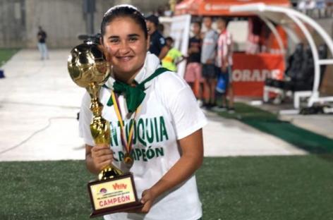 Laura Gallego, la rionegrera que se coronó campeona con la Selección Antioquia