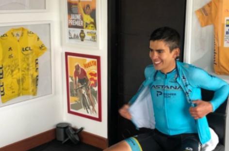 """""""Contento de portar el uniforme del Astana"""": Harold Tejada"""