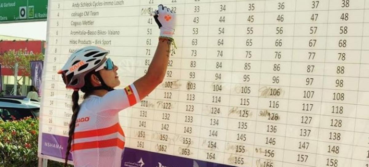 Katherine Montoya, en el Top 10 de la segunda etapa del Dubai Women´s Tour
