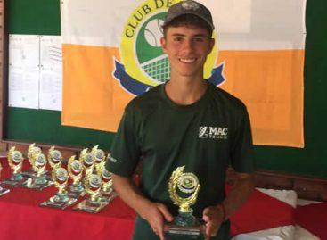 Thomás Cardona, el tenista de Guarne que ganó dos títulos en el Campeonato Nacional en Cali