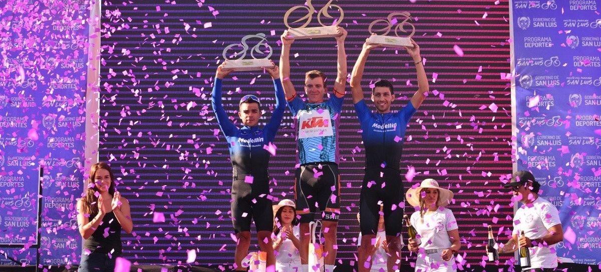 Walter Vargas, tercero en la clasificación general de la Vuelta del Porvenir en Argentina