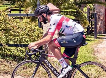 """""""¡Qué felicidad!"""": Fernando Gaviria no ocultó su emoción por volver a entrenar por las vías de La Ceja"""
