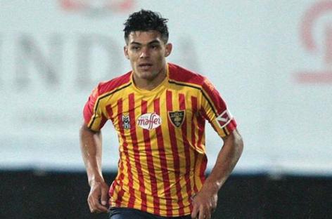 Brayan Vera volvió a tener minutos con el Lecce de Italia