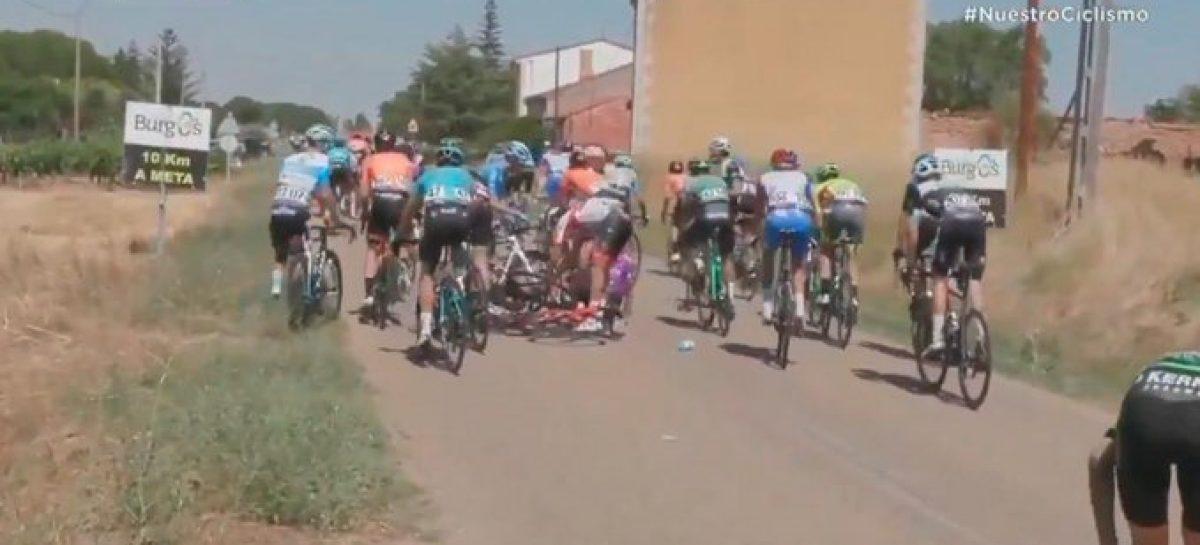 Una caída impidió que Fernando Gaviria disputara el embalaje en la cuarta etapa de la Vuelta a Burgos