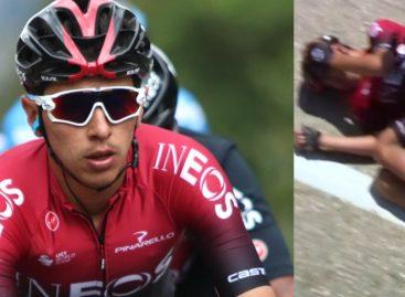 Sebastián Henao sufrió una fuerte caída y tuvo que abandonar la Vuelta a Burgos