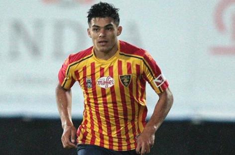 Brayan Vera descendió con el Lecce a la Serie B de Italia