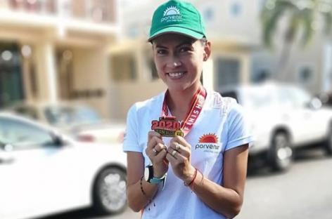 Carolina Tabares está lista para la carrera virtual de la Media Maratón de Bogotá