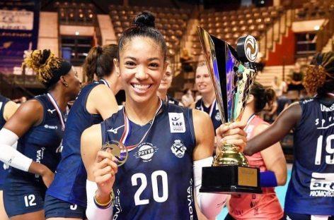 Amanda Coneo, la colombiana campeona de la Copa Nacional de Voleibol en Francia