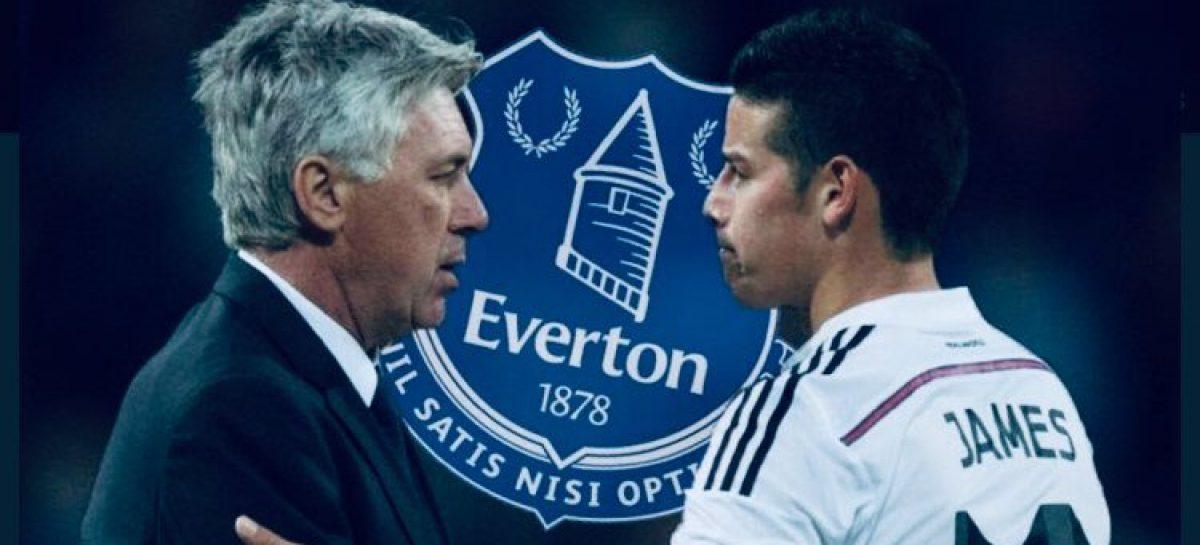 James Rodríguez se reencontrará con Carlo Ancelotti en el Everton de Inglaterra