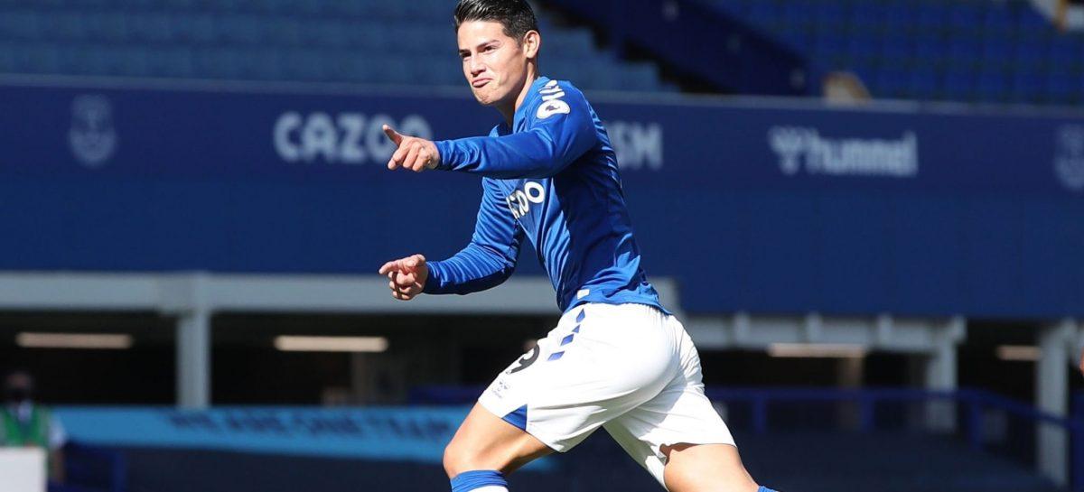 ¡Se estrenó en la Premier League! James Rodríguez marcó su primer gol con el Everton