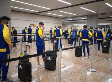 Boca Juniors aterrizó en el Aeropuerto JMC de Rionegro para enfrentar el jueves al DIM