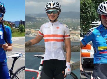 Patiño, Atehortúa y Upegui: el equipo femenino de Colombia en el Mundial de ruta en Italia