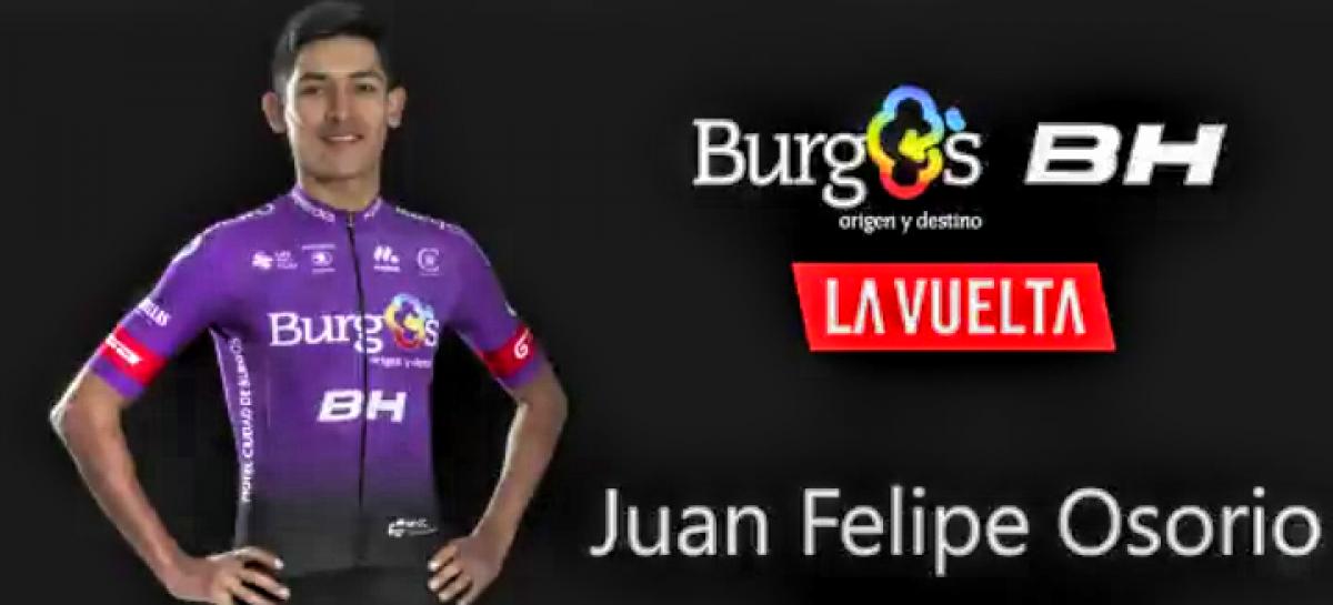 Juan Felipe Osorio, del municipio de La Unión, correrá la Vuelta a España 2020