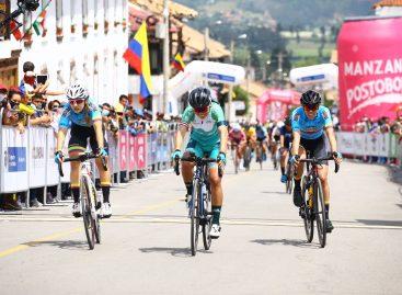 Segundo lugar para Daniela Atehortúa en la primera etapa de la Vuelta a Colombia Femenina