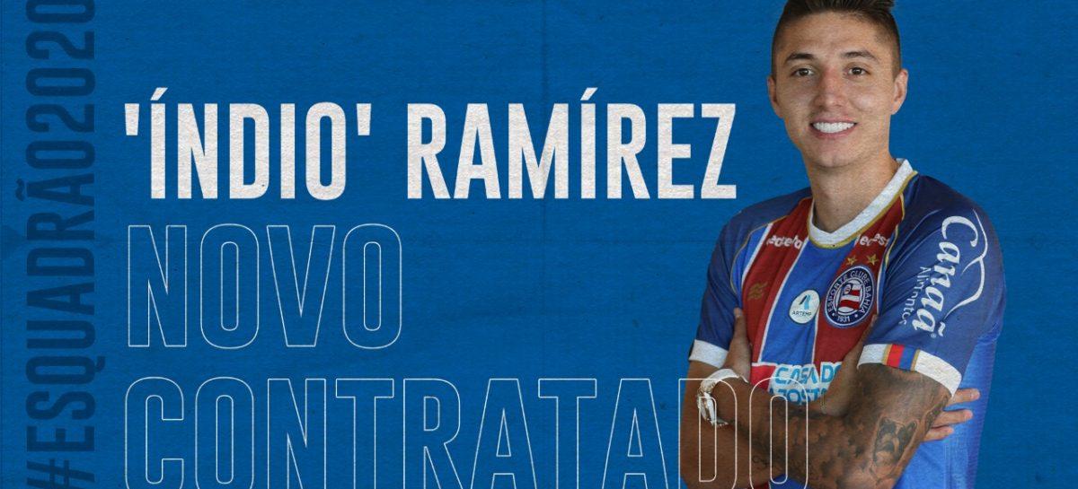 ¡Oficial! El 'indio' Ramírez es nuevo jugador de Sport Bahía de Brasil