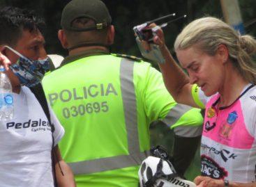 Tras fuerte caída, María Luisa Calle se retiró de la Vuelta a Colombia Femenina