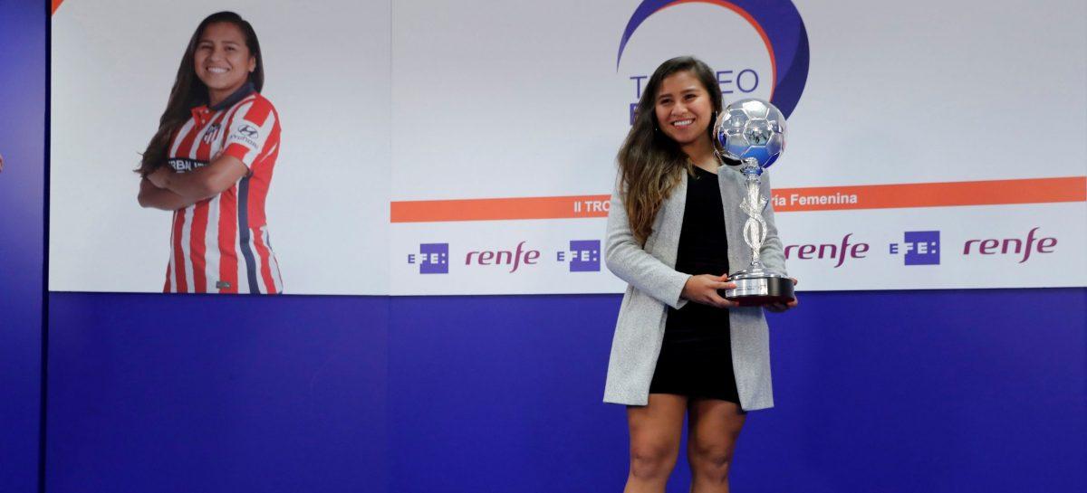 La colombiana Leicy Santos fue elegida la jugadora latina más valiosa del fútbol español