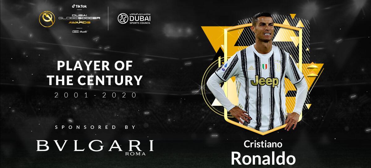 Cristiano Ronaldo ganó el premio al mejor futbolista del siglo XXl (2001-2020) en los Globe Soccer Awards