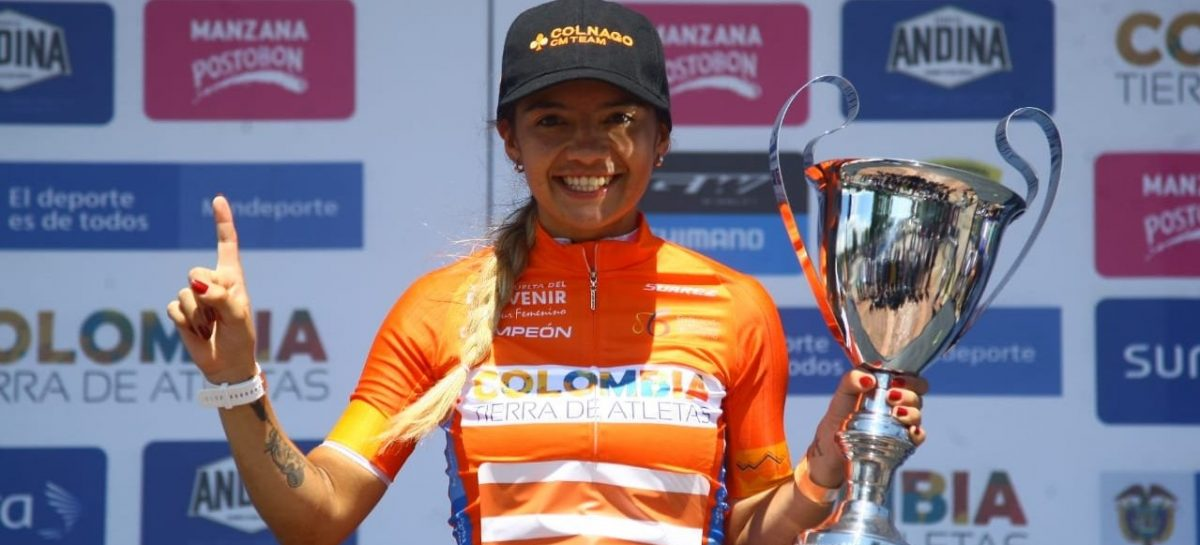 ¡Campeona! Lina Marcela Hernández, de El Carmen, ganó el título del Tour Femenino
