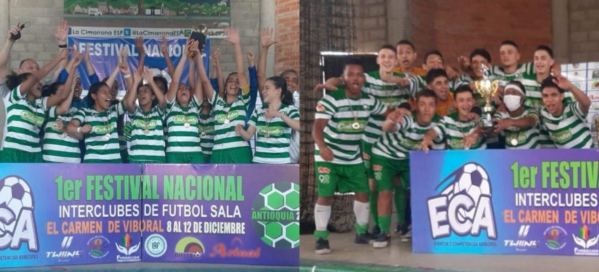 ¡Título en hombres y mujeres! La Selección Antioquia fue campeón del Nacional de Fútbol Sala en El Carmen de Viboral
