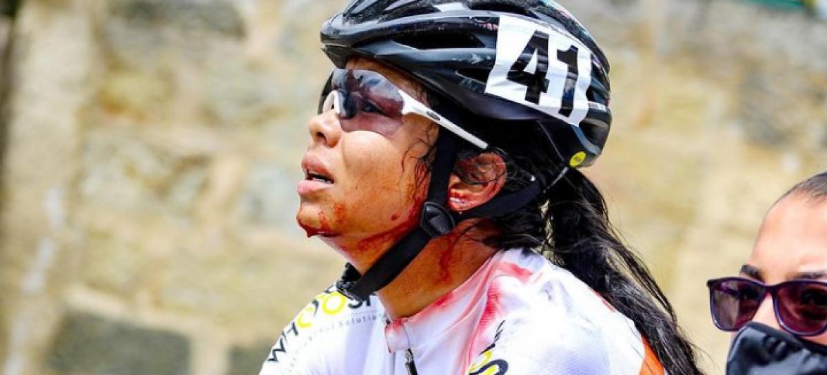 Fotografía de ciclista antioqueña, entre las mejores del mundo de la temporada 2020