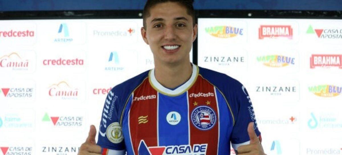 El rionegrero Juan Pablo 'indio' Ramírez fue titular con Bahía en la Copa Sudamericana