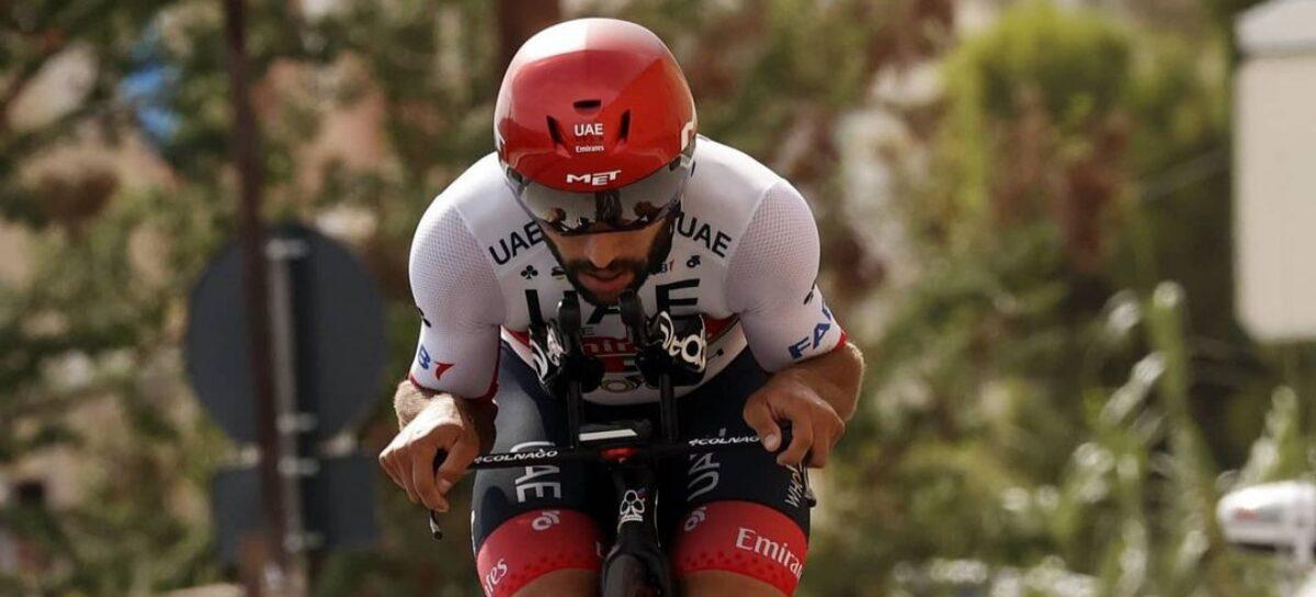 ¡Tercer lugar! Fernando Gaviria, en el podio de la Tirreno-Adriático