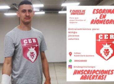 En Rionegro nace el primer club de esgrima del Oriente Antioqueño