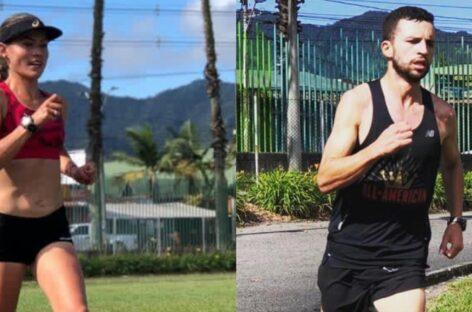 Carolina Tabares y David Gómez, dos cejeños que competirán en el Grand Prix de Atletismo en Argentina