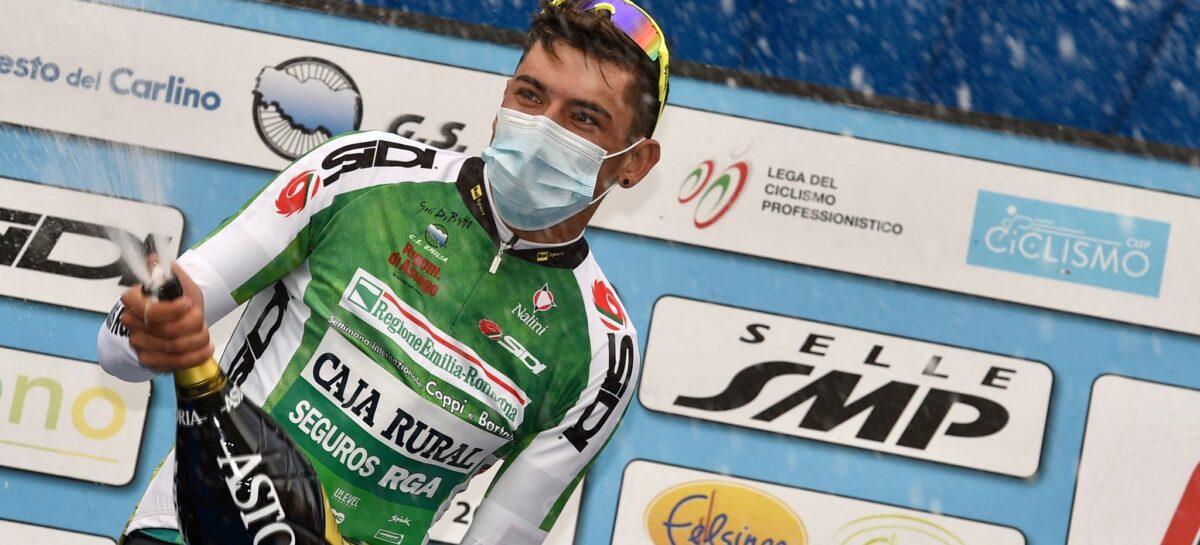 Alejandro Osorio, de El Carmen de Viboral, se coronó campeón de la montaña en la Coppi e Bartali