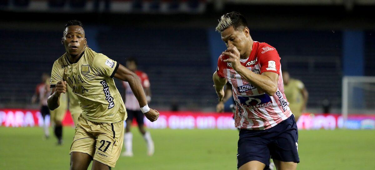 En Barranquilla, Águilas Doradas jugó su mejor partido del año y le complicó la clasificación a Junior