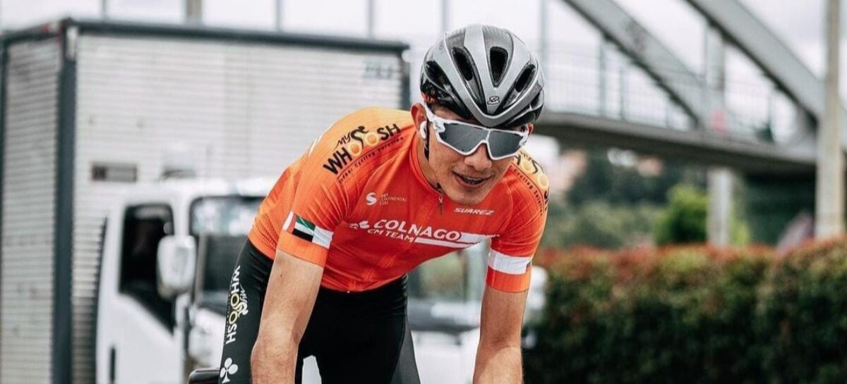 Juan Esteban Martínez, de San Vicente, fue tercero en la primera etapa de la Vuelta de la Juventud