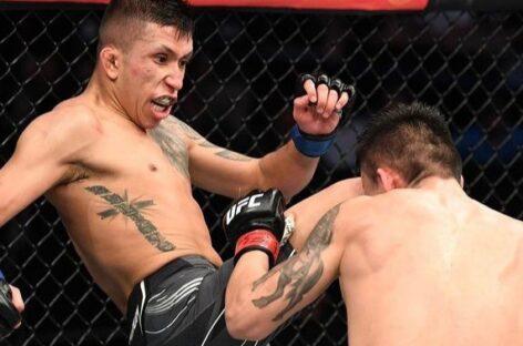 ¡Espectacular debut! El colombiano Jeff Molina ganó su primera pelea en la UFC