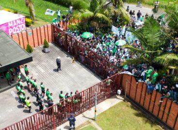 En Guarne, hinchas de Atlético Nacional protestaron por el mal nivel del equipo
