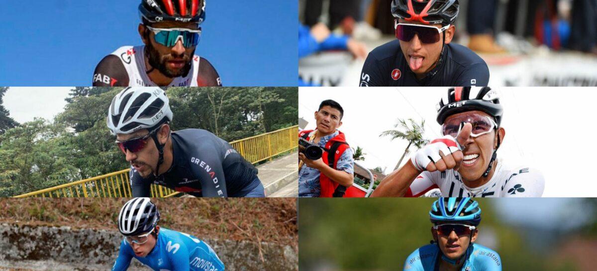 Los seis ciclistas colombianos que disputarán el Giro de Italia 2021