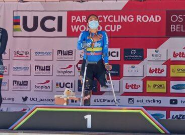 Carolina Munevar, campeona de la CRI en la Copa Mundo de Paracycling en Bélgica