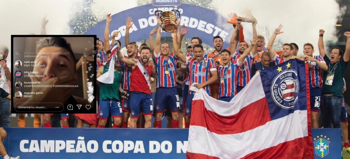 El rionegrero Juan Pablo Ramírez festejó el título de Bahía de la Copa Do Nordeste: el