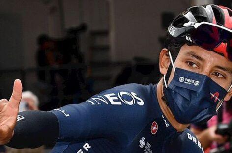 Egan Bernal fue segundo en la sexta etapa del Giro de Italia