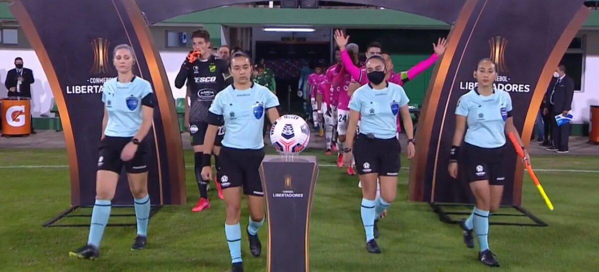 ¡Momento histórico! Cuatro mujeres dirigieron un partido de la Copa Libertadores