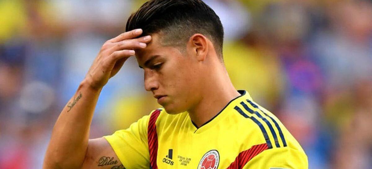 ¡Desconvocado! James Rodríguez se perderá las Eliminatorias y la Copa América