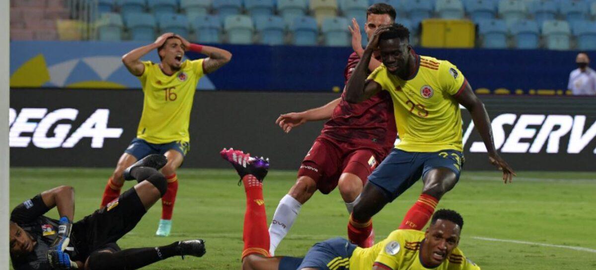 ¡Faltó efectividad! Colombia no pudo derrotar a Venezuela en la Copa América