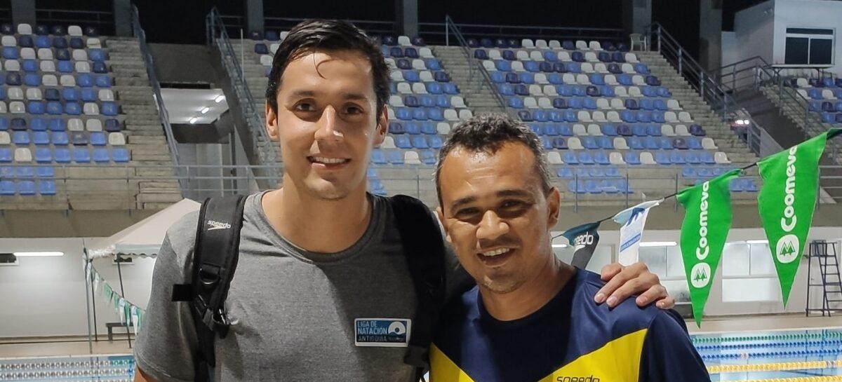 Jorge Mario «La Trucha» Murillo, múltiple campeón en el Nacional Interligas de Natación