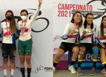 Lina Marcela Hernández ganó dos medallas de oro en el Panamericano de Pista en Perú