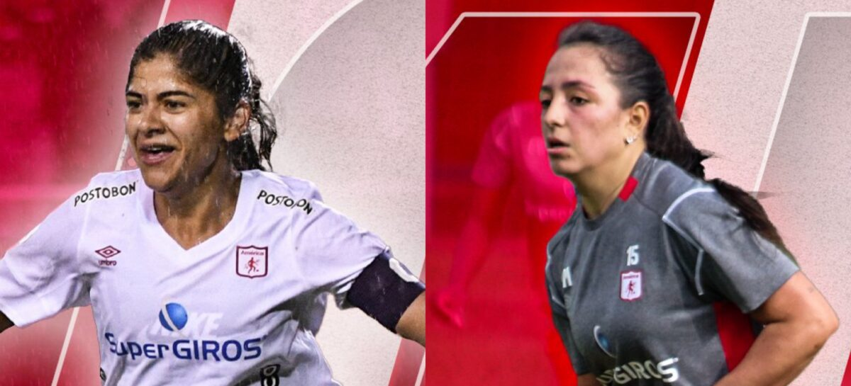 Catalina Usme y Sara Sofía Martínez fueron titulares con América en el inicio de la Liga Femenina